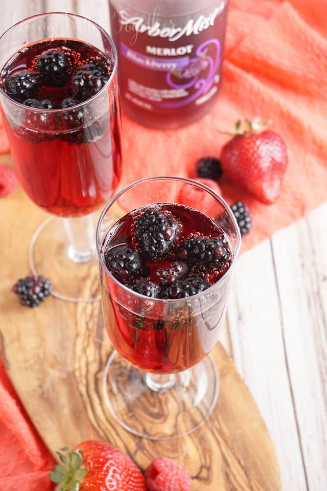 A simple and refreshing blackberry wine spritzer for summer that's made with just three ingredients!