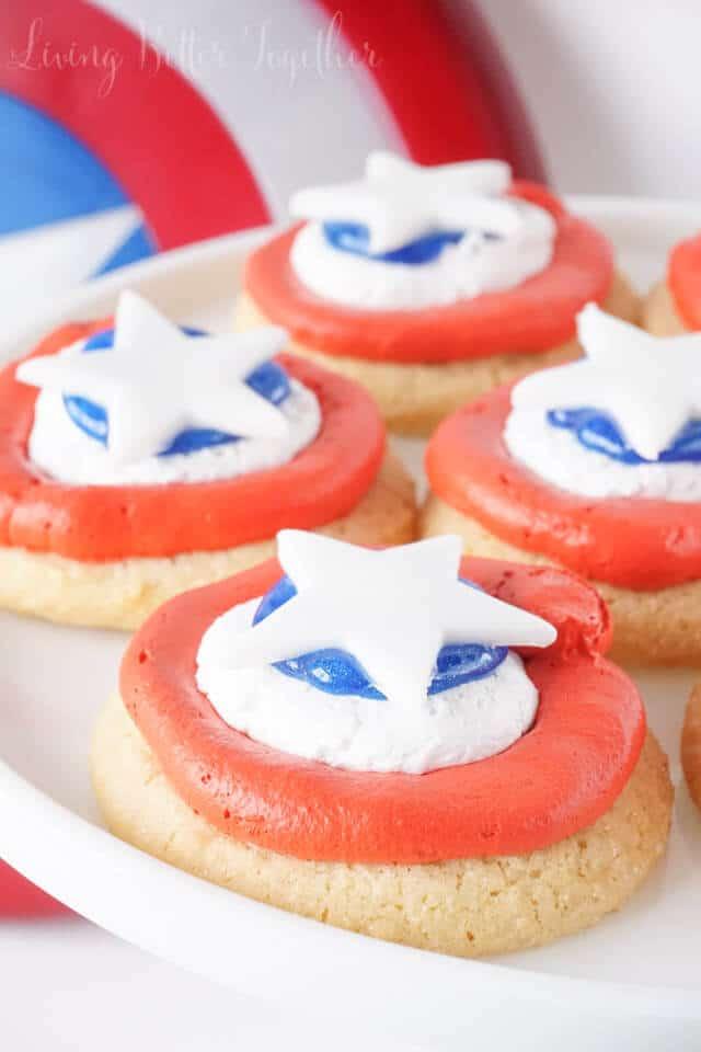 Easy Captain America Cookies