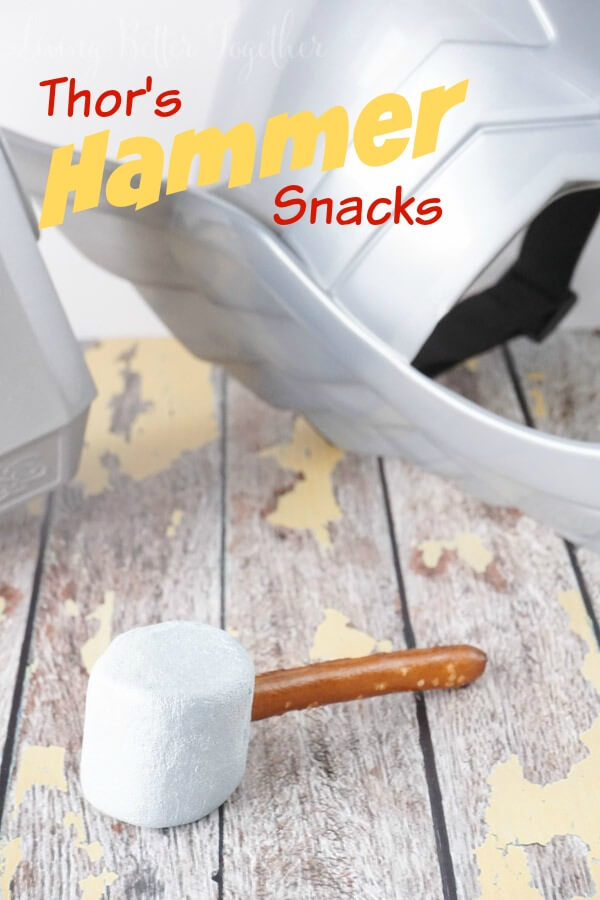 Thor's Hammer Snacks are so easy to make! Perfect for an Avenger's Premiere Party!