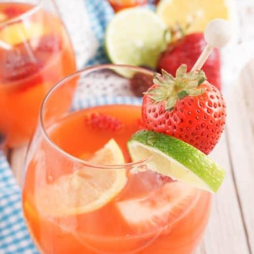 Mixed Fruit Sangria Mocktail