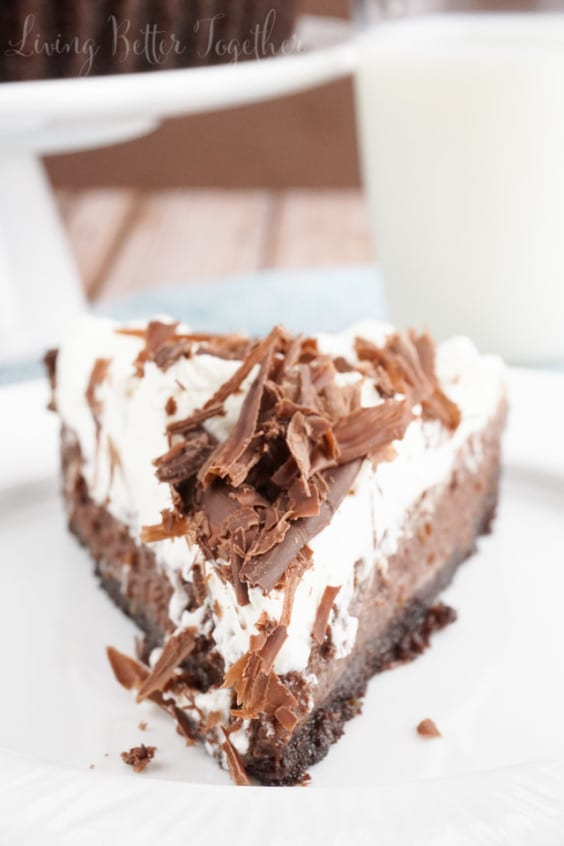 This Mississippi Mud Pie is a perfectly rich blend of chocolate and cream - lord have mercy on our waistlines.