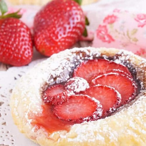 America's Strawberry Nutella Tarts