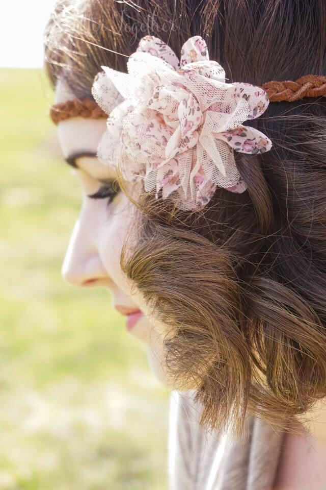 DIY Leather & Floral Boho Headband