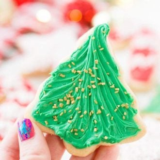 There's just something about those classic Christmas Sugar Cookie Recipe from scratch just like grandma used to make. This simple recipe made with butter, sugar, flour, and vanilla is perfect for decorating for the holidays!