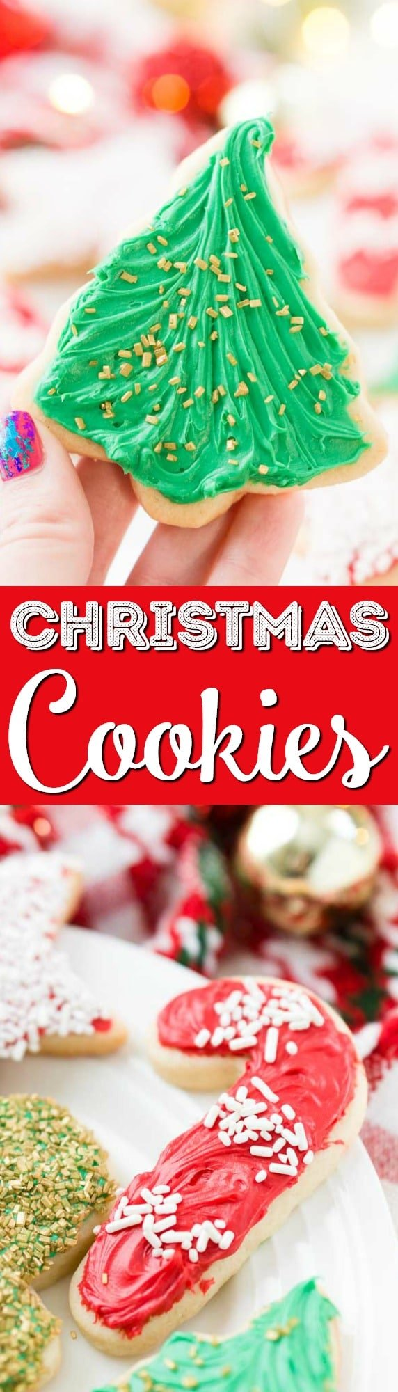 There's just something about those classic Christmas Sugar Cookie Recipe from scratch just like grandma used to make. This simple recipe made with butter, sugar, flour, and vanilla is perfect for decorating for the holidays! via @sugarandsoulco
