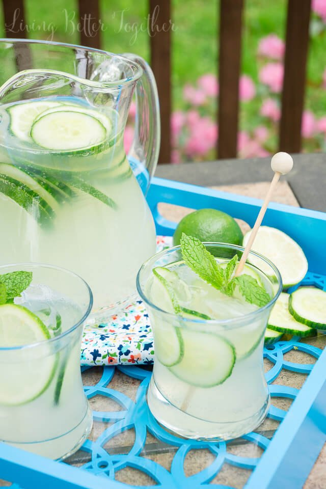 I love the simple flavors in this Cucumber Lime Punch it's so refreshing and perfect for summer!