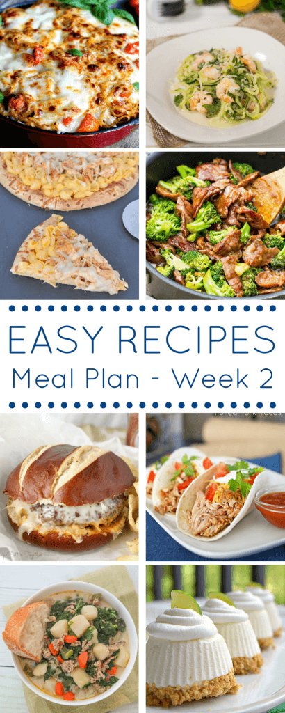 This Easy Dinner Recipes Meal Plan is going to make your week and your grocery shopping a breeze!