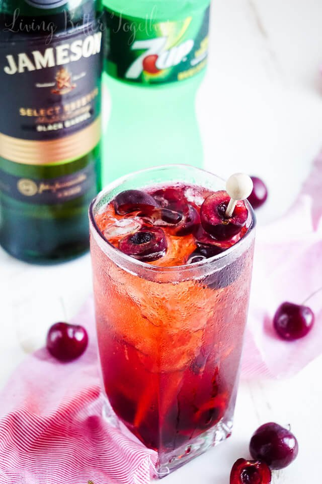 This Cherry 7 and 7 is a fun summer twist on the classic whiskey ...
