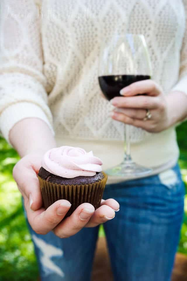 Chocolate & Merlot Cupcakes