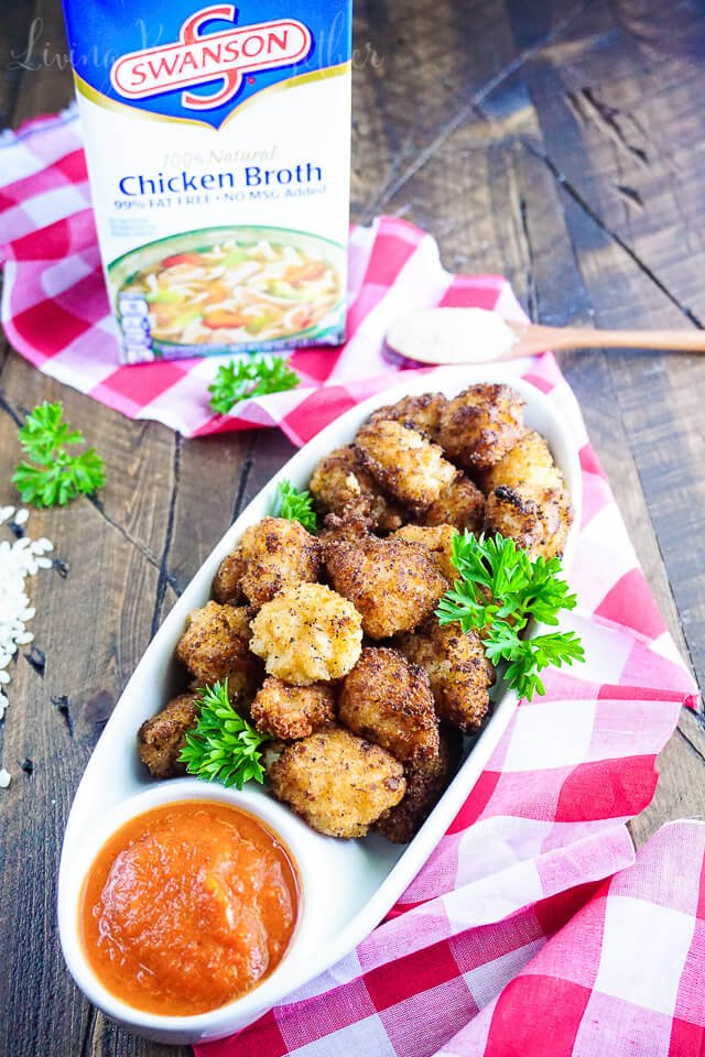 A great appetizer for any get together, these Fried Risotto Balls are paired with a roasted red pepper sauce for maximum flavor!