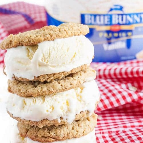Oatmeal Ice Cream Sandwiches