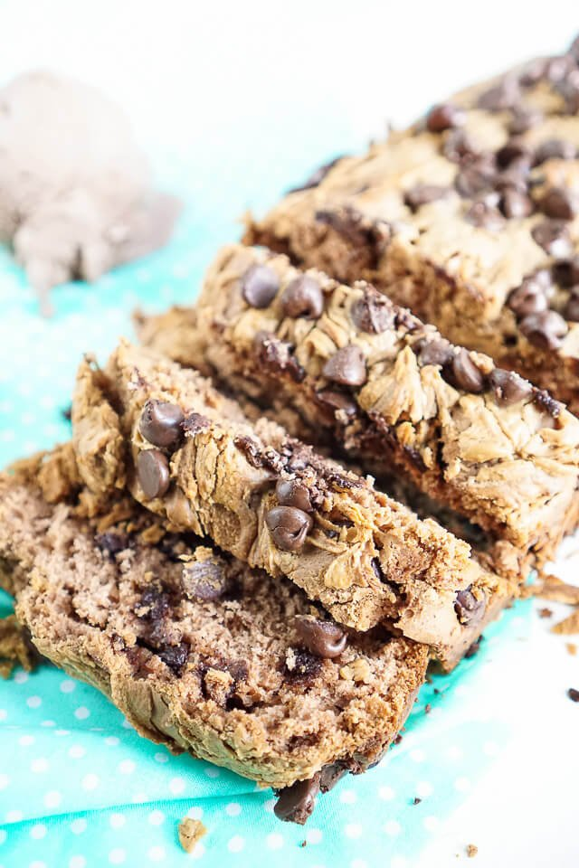This Peanut Butter & Chocolate Ice Cream Bread is a sweet dessert made with just 5 simple ingredients.