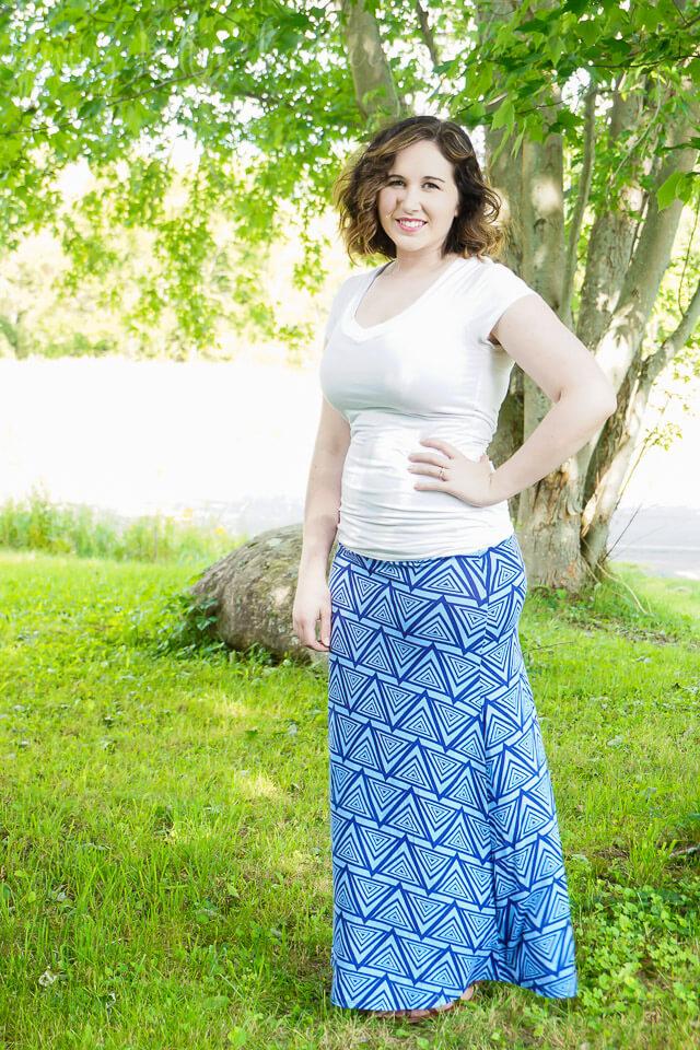 Loveappella Cheyanne Printed Maxi Skirt - Stitch Fix September 2015