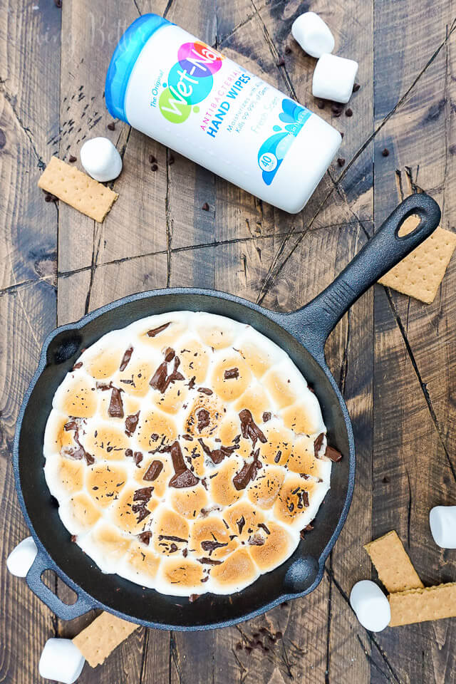 This Brownie S'mores Skillet Dip is a dessert match made in heaven! An easy and gooey treat great for summer!