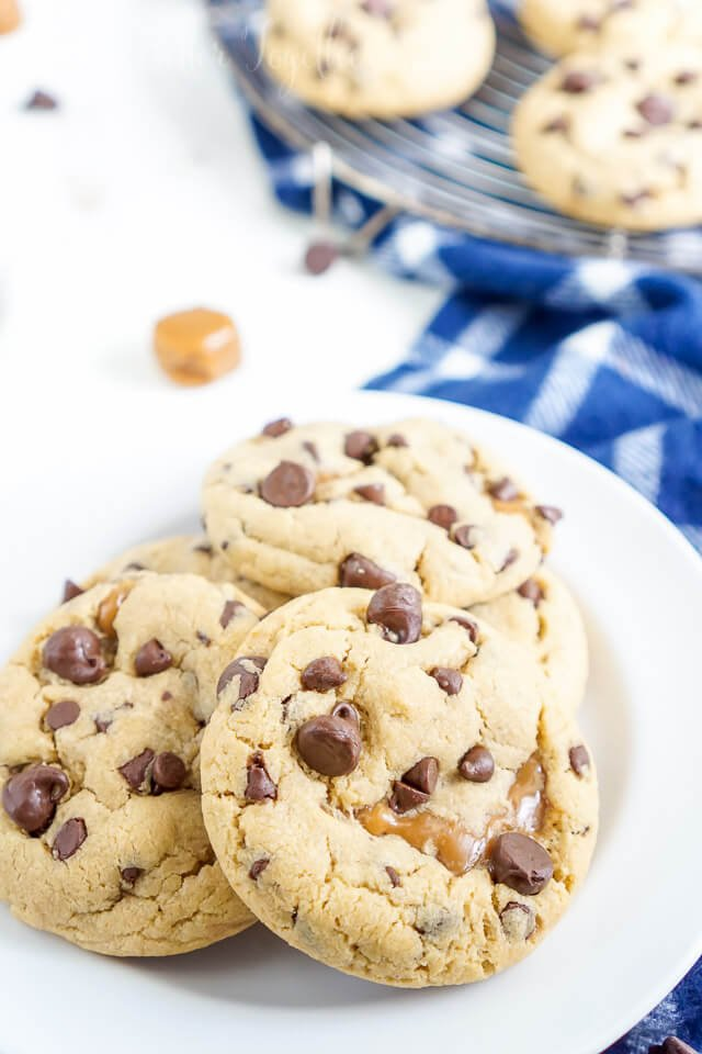 These Peanut Butter Caramel Stuffed Chocolate Chip Cookies Are A Bit Of A Mouthful But