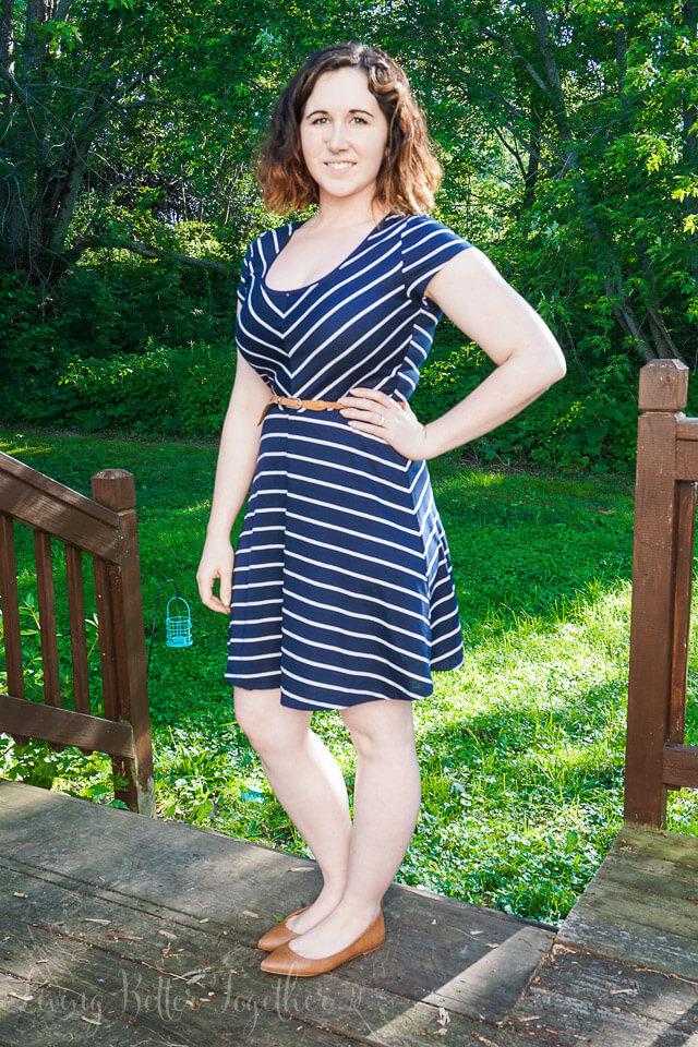 Stitch Fix August 2015 - Market & Spruce Spencer Striped Jersey Dress