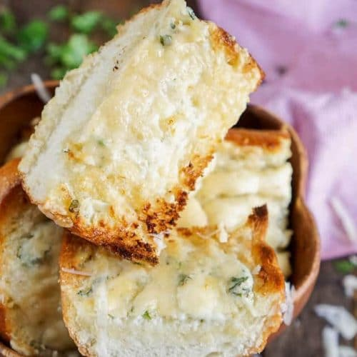 15-Minute Blue Cheese Garlic Bread