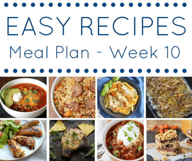 Easy Recipes Meal Plan Week 10