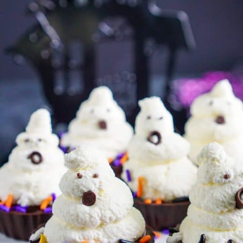 Ghost Chocolate Cream Pie Bites
