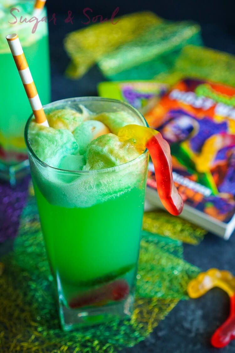 This Goosebumps Halloween Punch is an easy drink made with just 4 ingredients! It's the perfect addition to Halloween parties too!