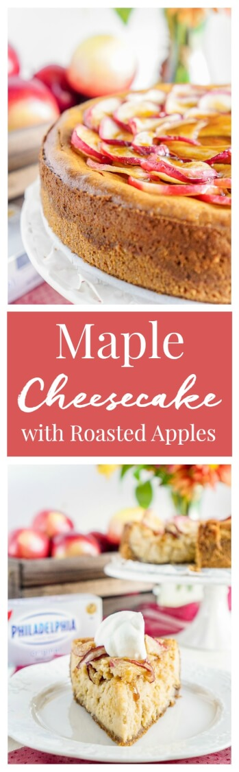 Maple Cheesecake with Roasted Apples - Sugar & Soul