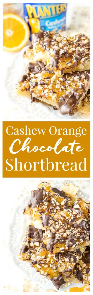 ... shortbread crust topped with sweet orange marmalade, dark chocolate