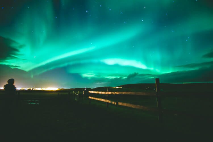 The Northern Lights in Iceland are unlike anything I have ever witnessed. The vibrant lights dance among the stars and remind us how little we truly are. A bucket list must!