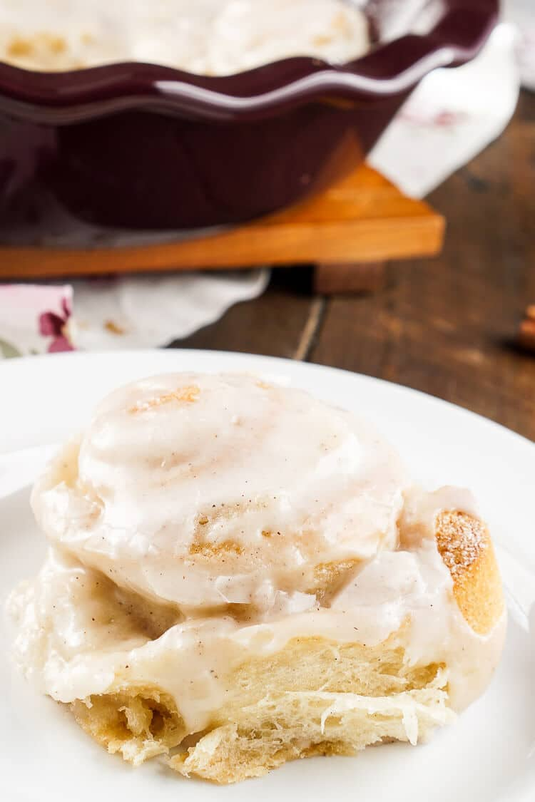 These 5-Ingredient Snickerdoodle Sweet Rolls easy to make and out-of-this-world-good! Sugar cookie dough rolled up in crescent rolls laced with cinnamon and topped with a sweet cinnamon sugar icing! They're ooey and gooey and ready in about 30 minutes making them perfect for holiday brunch!
