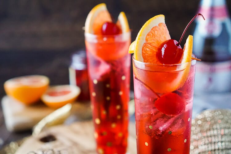 Champagne Shirley Temple Recipe