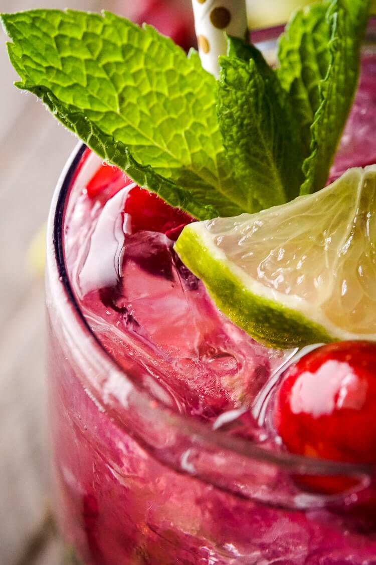 Cranberry Mojito Punch - Sugar & Soul
