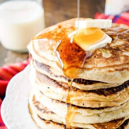 Eggnog Ricotta Pancakes