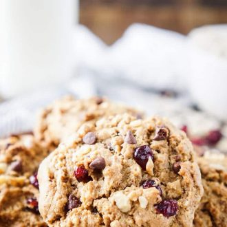 These Everything Breakfast Cookies are a hearty and wholesome way to start your day! Made with a little bit of everything, they're a tasty breakfast loaded with protein and fiber that will keep you full! There's 8g of protein and 5g of dietary fiber in each cookie!
