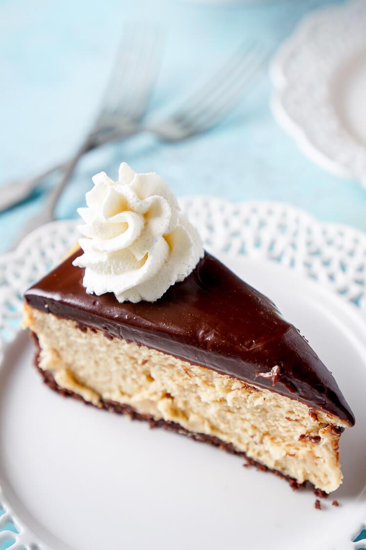 Peanut Butter Chocolate Cheesecake - Sugar & Soul