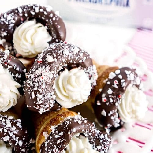 Chocolate Peppermint Cream Horns