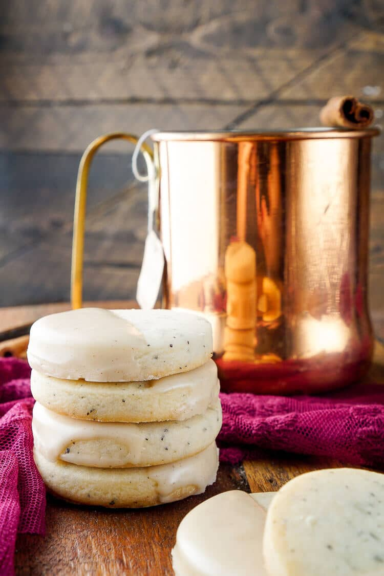 These Vanilla Chai Shortbread Cookies are simple to make with just butter, flour, sugar, and tea, they have a little spice and a whole lot of cozy!