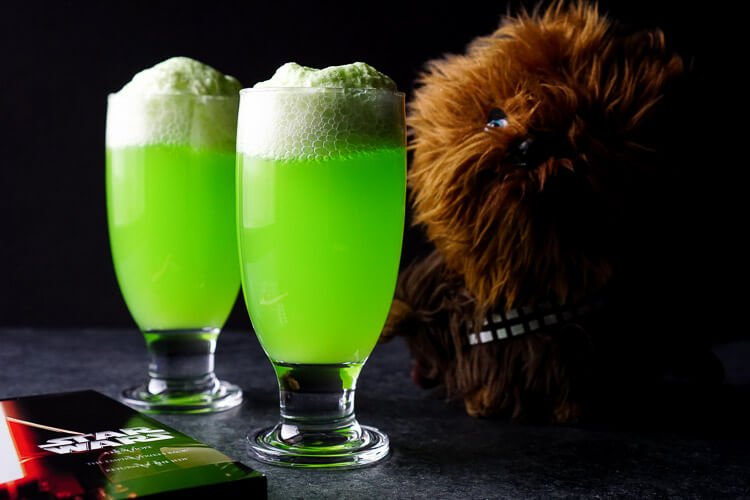 Star Wars Recipe - Yoda Soda Float