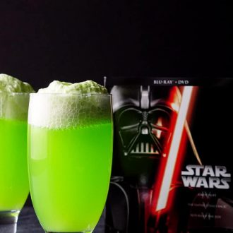 This Yoda Soda Float recipe is a simple and fun addition to any Star Wars themed party or movie night!