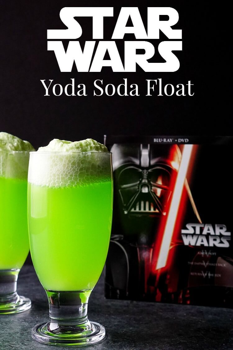 These Yoda Soda Floats are a simple and fun addition to any Star Wars themed party or movie night! via @sugarandsoulco