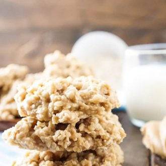 These Peanut Butter No Bake Cookies are an easy classic the whole family will enjoy! They are made with just 6 ingredients and only take a few minutes on the stove top to make! A classic no bake dessert recipe you'll want to make over and over again!