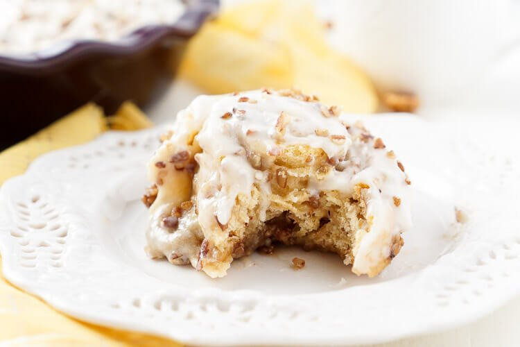 These Easy Pecan Cinnamon Rolls are everything you could hope for and more in a morning sticky bun! Made with premade crescent roll dough, this sweet breakfast treat is ready in just 45 minutes and loaded with pecans, sugar, and cinnamon!