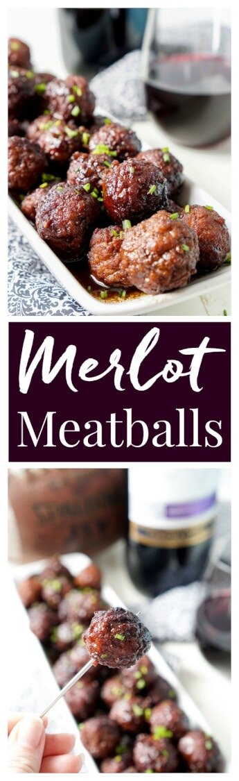 These Merlot Meatballs are made with a balsamic vinegar and Frontera Merlot wine reduction that's laced with garlic and honey for a flavor profile that will blow your traditional game day sauces out of the stadium! via @sugarandsoulco