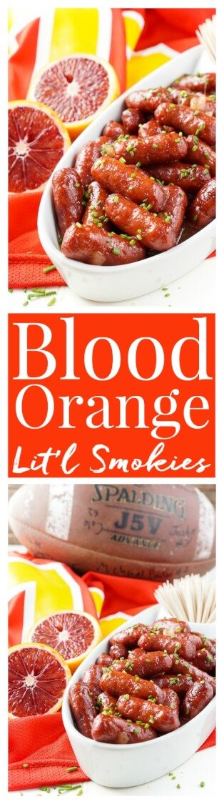 These Spicy Blood Orange Lit'l Smokies sausages are an easy appetizer ...