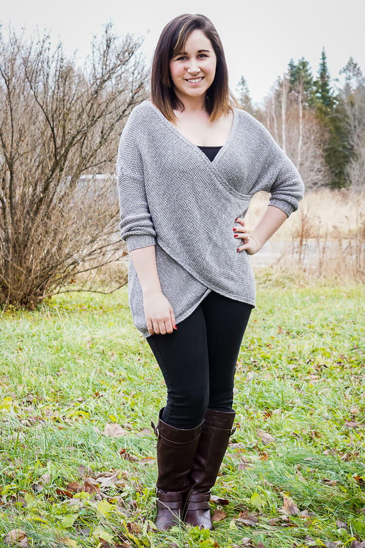 RD Style - Wakefield Crossover Sweater - January 2016 Stitch Fix Review