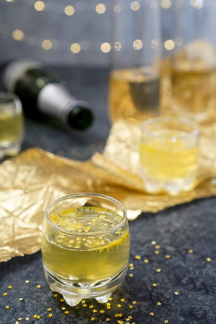These Champagne Jello Shots are made with just a few ingredients and are so easy to make for your next celebration!