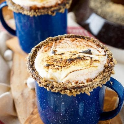 Campfire S'mores Hot Chocolate Cocktail