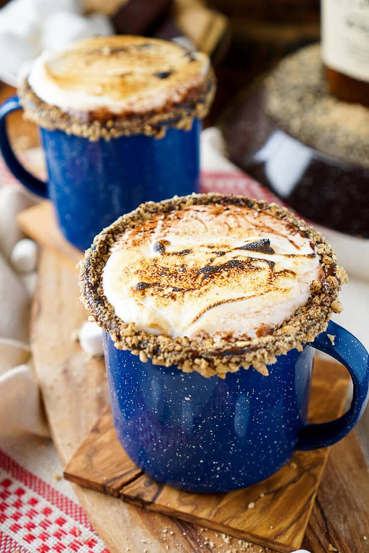 Campfire S'mores Hot Chocolate Cocktail   Beanstalk Single Mums