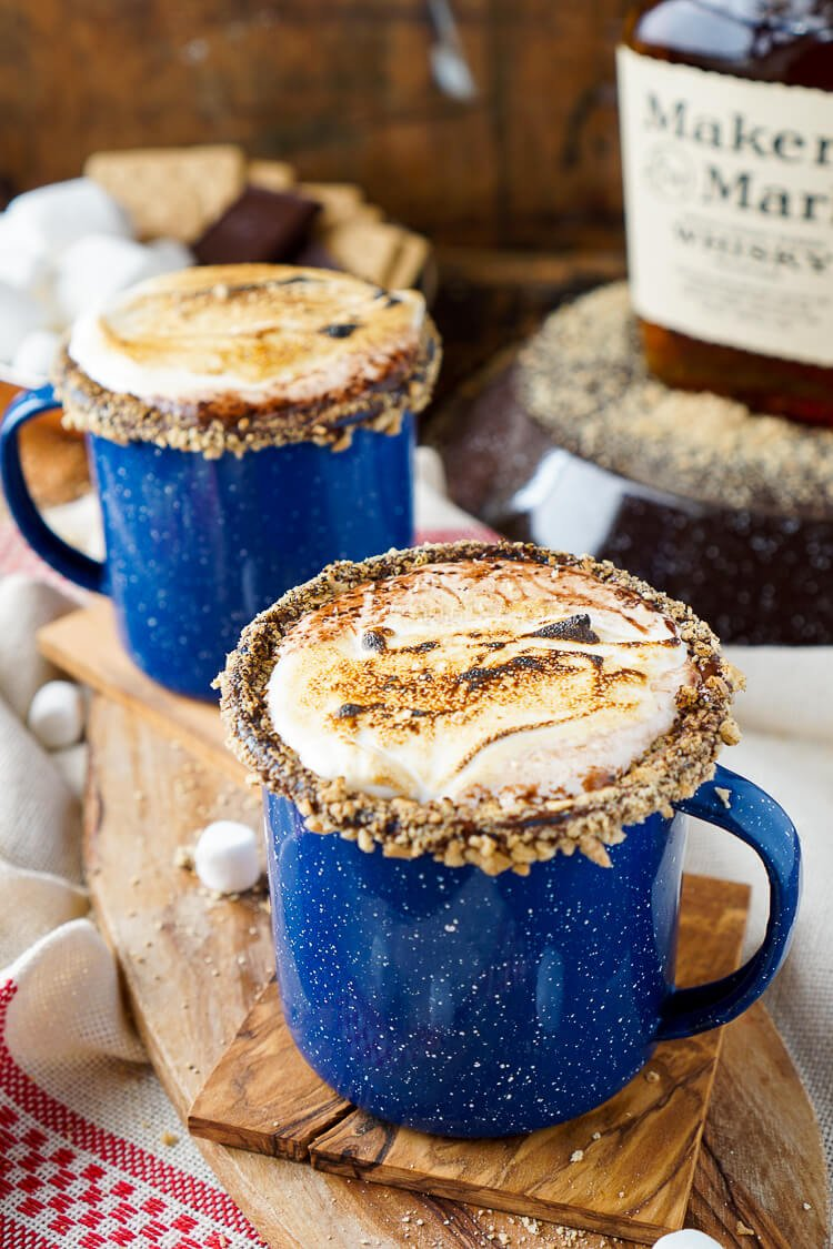 Campfire S Mores Hot Chocolate Cocktail Sugar And Soul