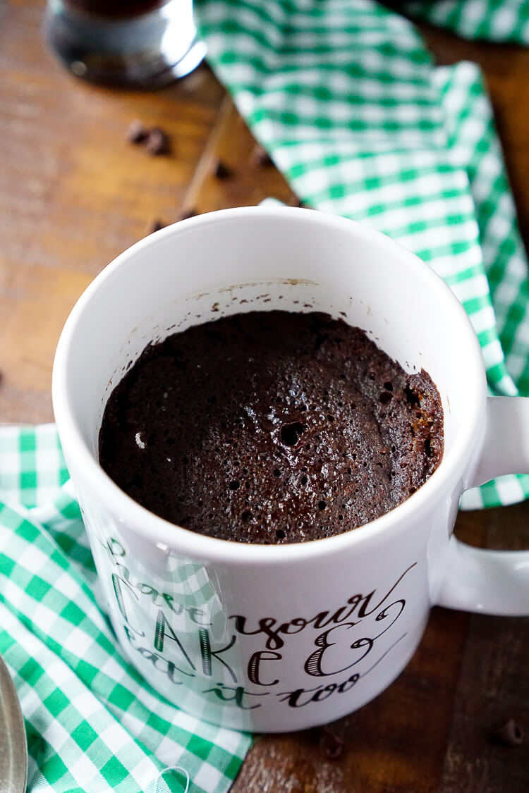 Guinness Chocolate Mug Cake - Sugar & Soul
