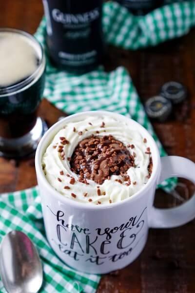 Guinness Chocolate Mug Cake
