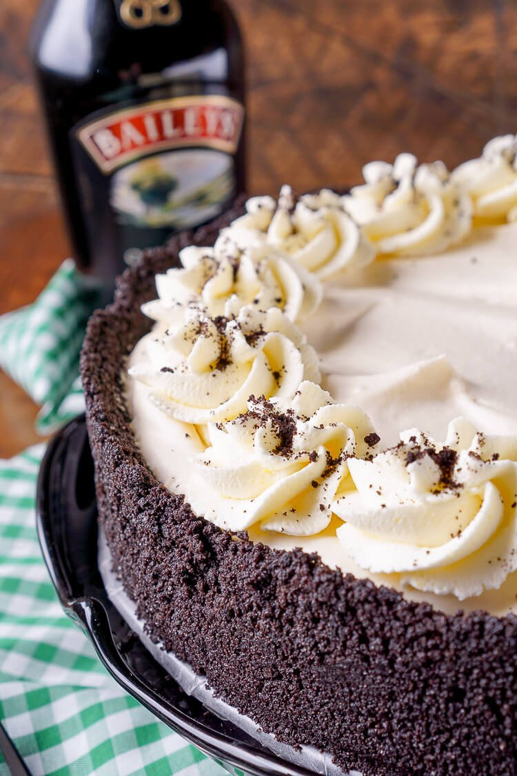 ... chocolate cookie crust filled with a cream marshmallow and Irish Cream